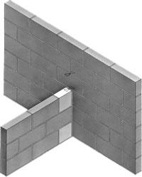 Unión de los muros sin trabar los bloques